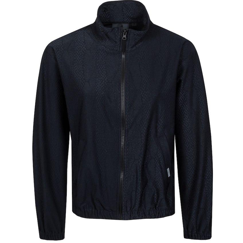 Womens Animal Texture Track Jacket Black 0