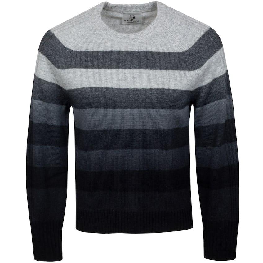 Womens Stripe Dip Dye Crewneck Sweater Smoke Marl 0