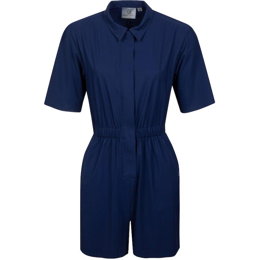 Womens Core Zip Front Jumpsuit Navy 0