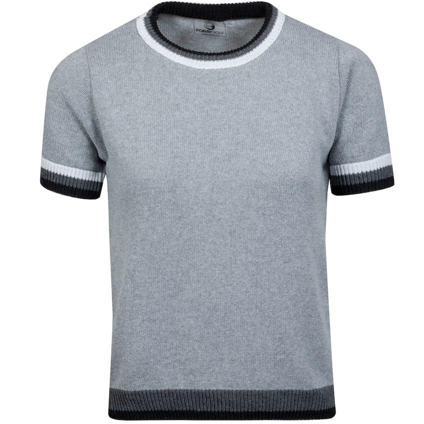 Womens Vanishing Point Short Sleeve Sweater Grey 0