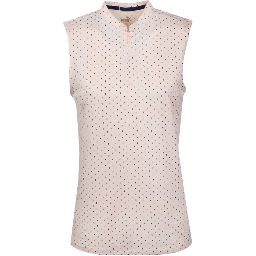 Womens Cloudspun SL Polka Polo Shirt Cloud Rose/Navy Blazer - SS21 0