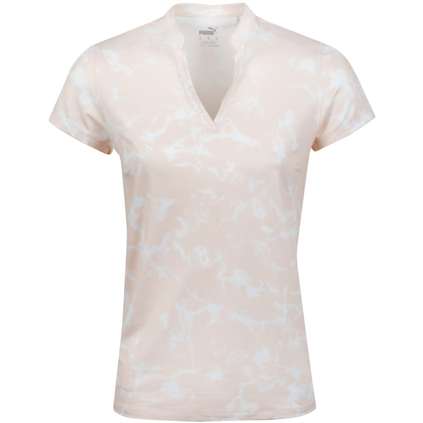 Womens Cloudspun Marble Polo Shirt Cloud Pink - SS21 0