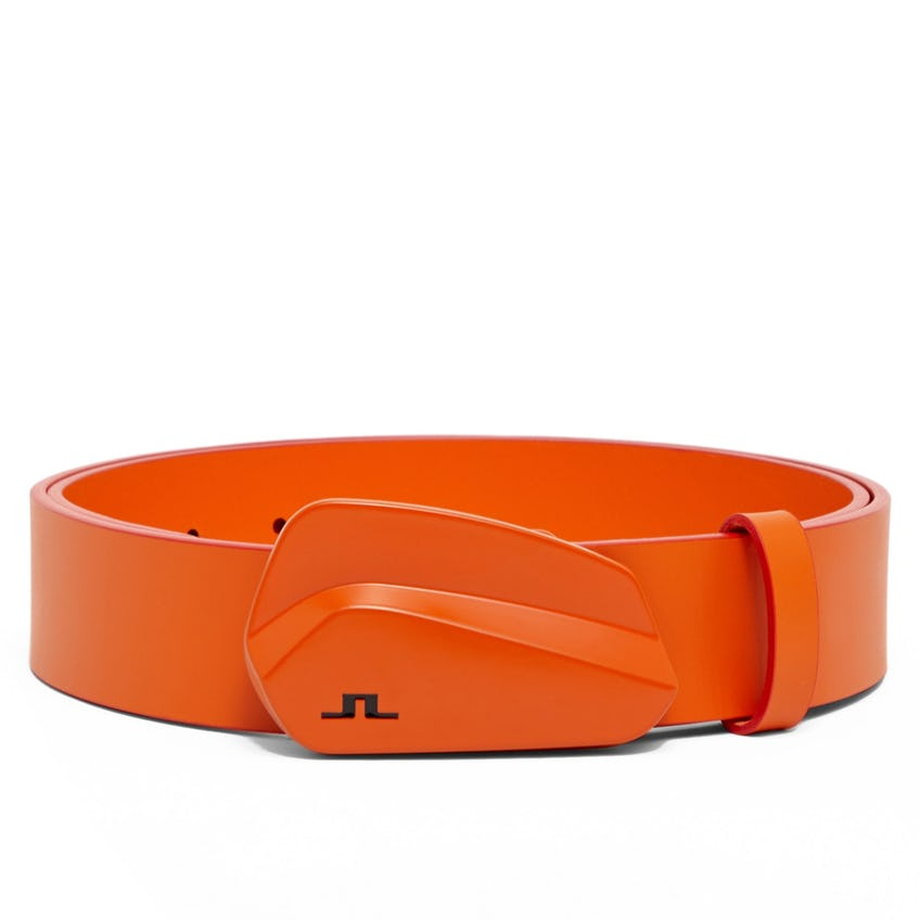 Golf Club Leather Belt Lava Orange - SS21