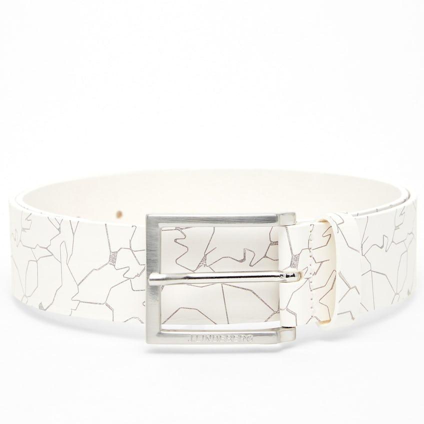 Ivar Leather Belt Slit White - SS21