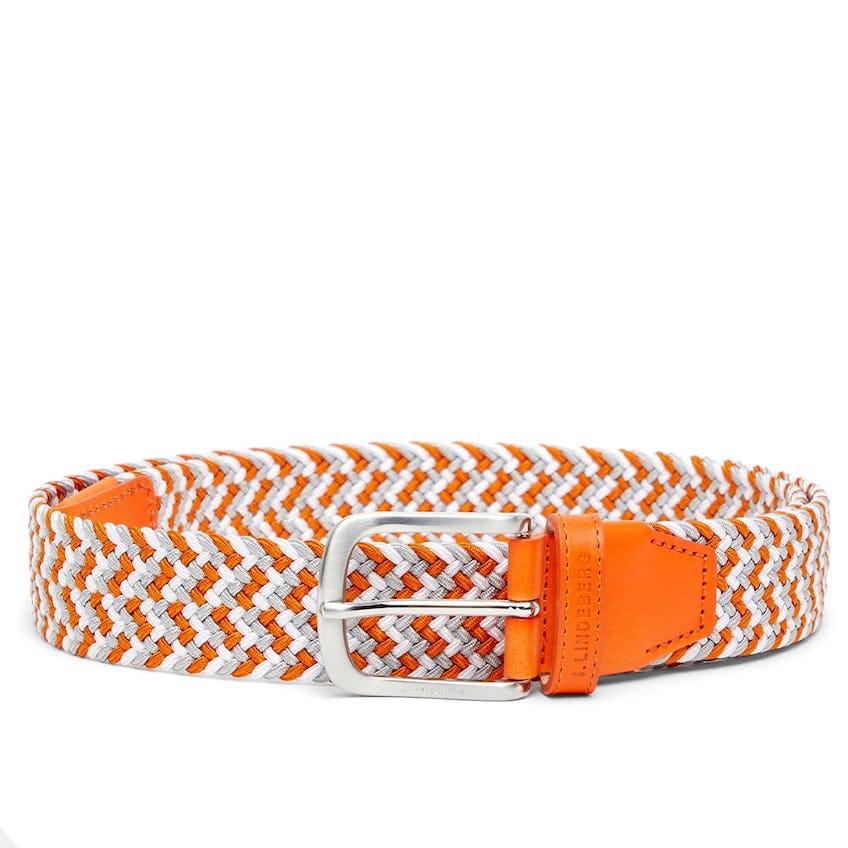 Bubba Braided Elastic Belt Lava Orange - SS21