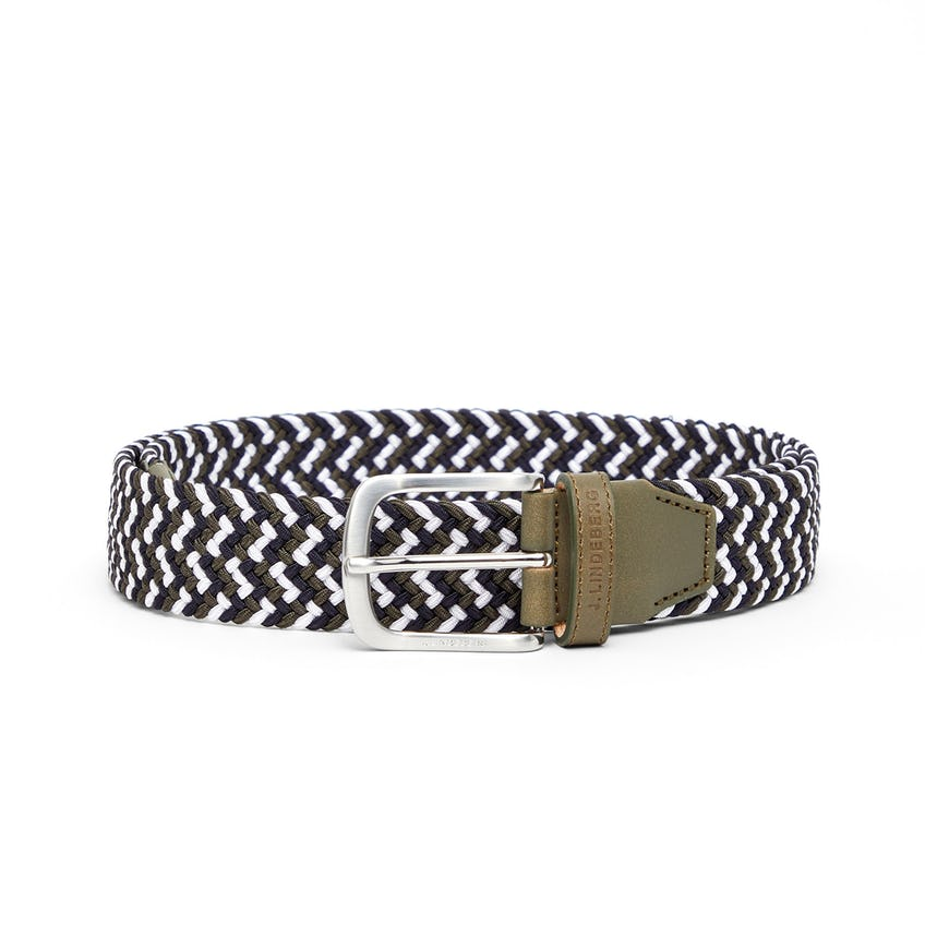 Bubba Braided Elastic Belt Thyme Green - SS21