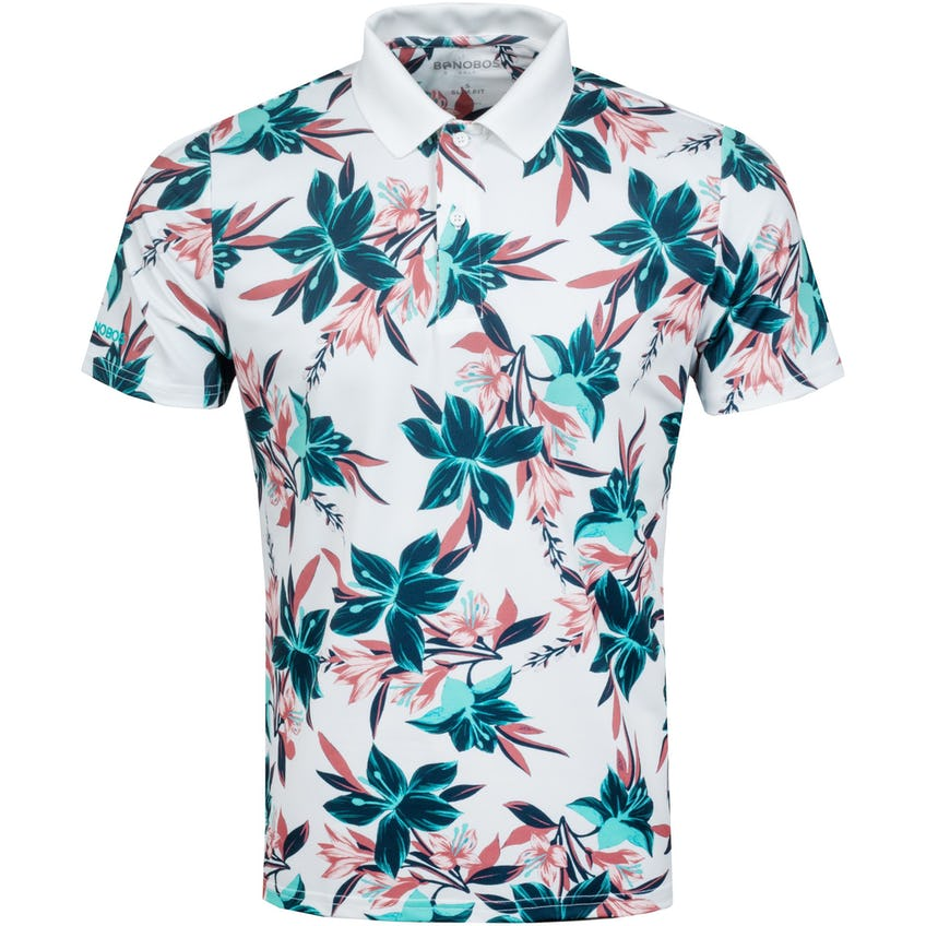 The Performance Print Polo Slim Teal and Pink Floral - SS21