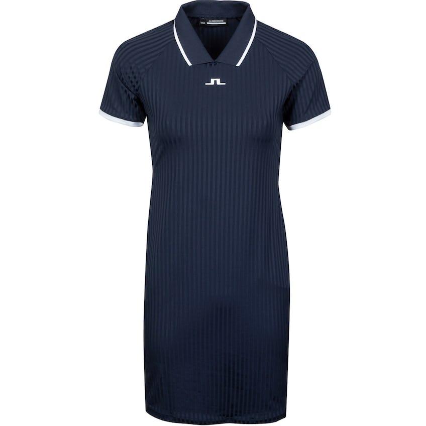 Womens April Rib Jersey Dress JL Navy - SS21