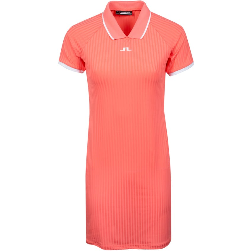 Womens April Rib Jersey Dress Tropical Coral - SS21 0