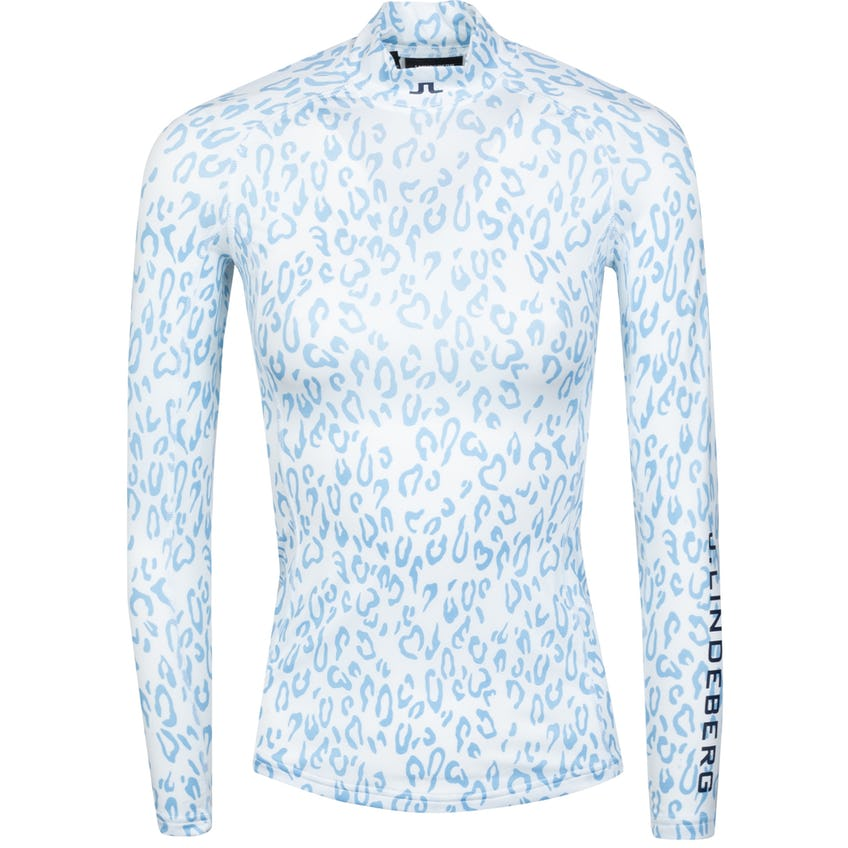Womens Asa Print Soft Compression Top Animal Blue/White - SS21