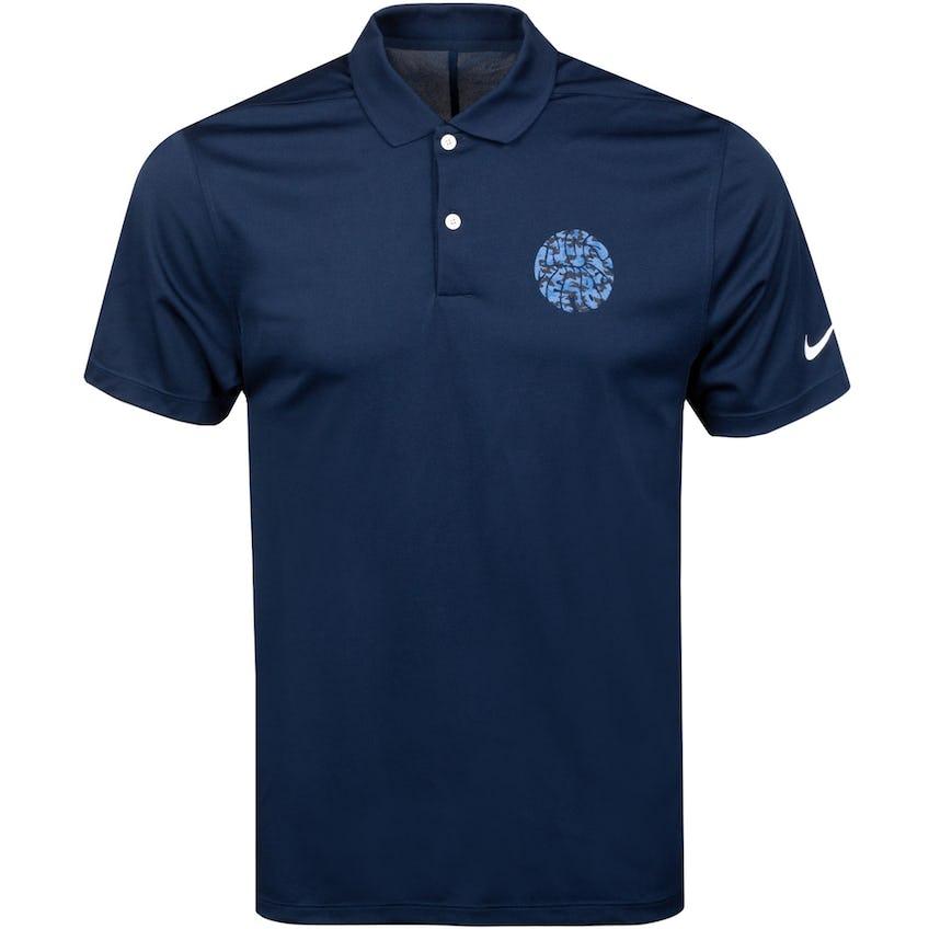 x Nike Camo Dri Fit VCTRY Polo Shirt Navy