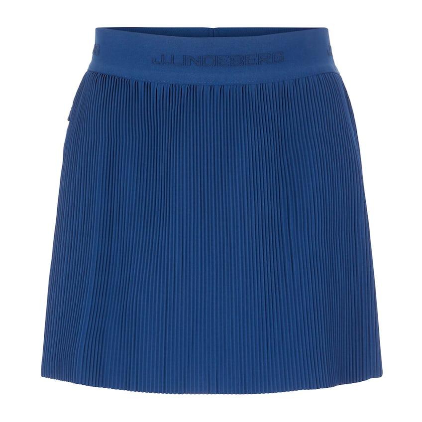 Womens Saga Pleated Woven Skirt Midnight Blue - SS21