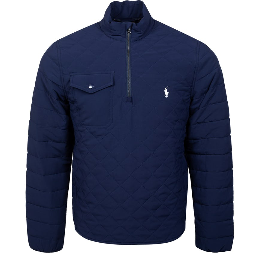 Luxury Diamond Quilted Quarter Zip French Navy - SS21