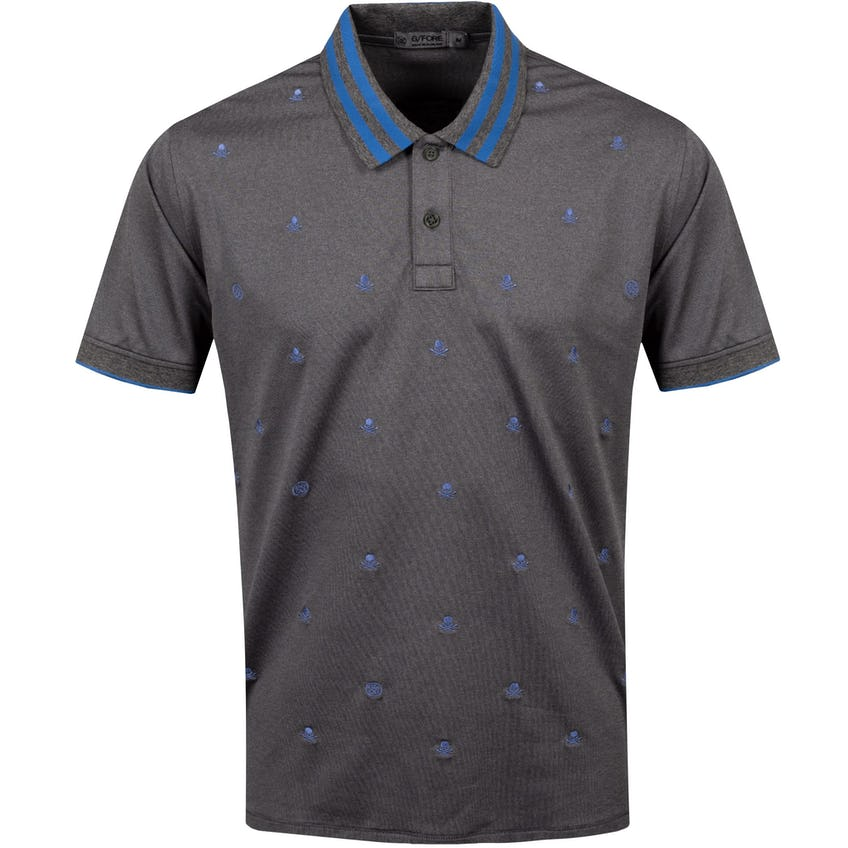 Skull & T's Embroidered Polo Shirt Charcoal Grey - SS21
