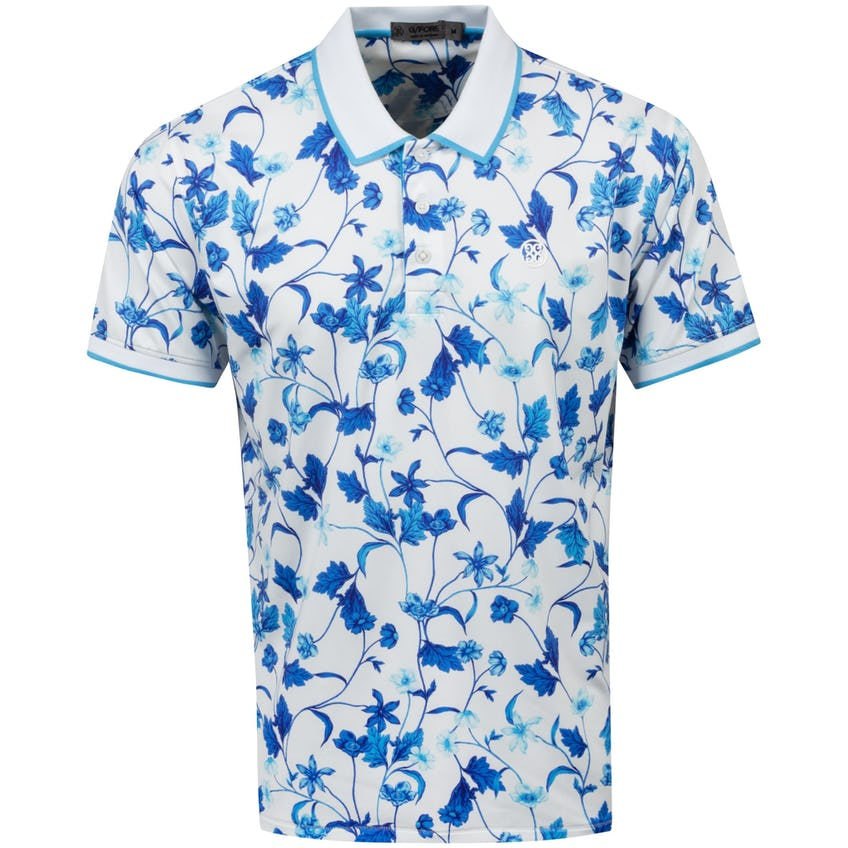 Printed Floral Polo Shirt Snow - SS21