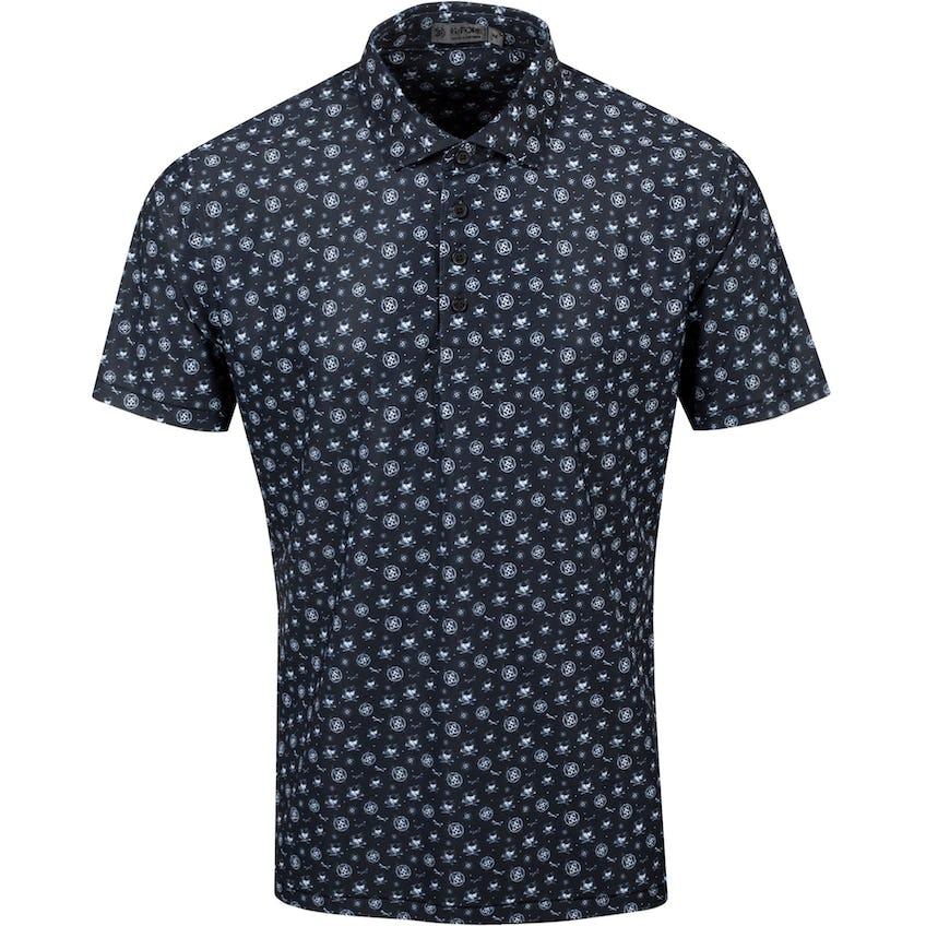 Sketch Printed Polo Shirt Onyx - SS21