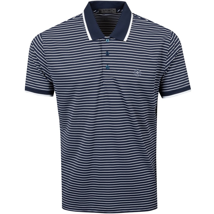 Perforated Stripe Polo Shirt Twilight - SS21 0
