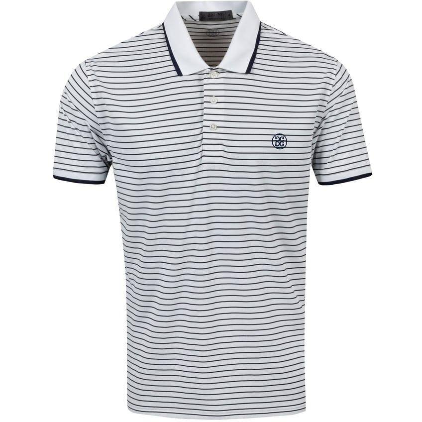 Perforated Stripe Polo Shirt Snow - SS21 0