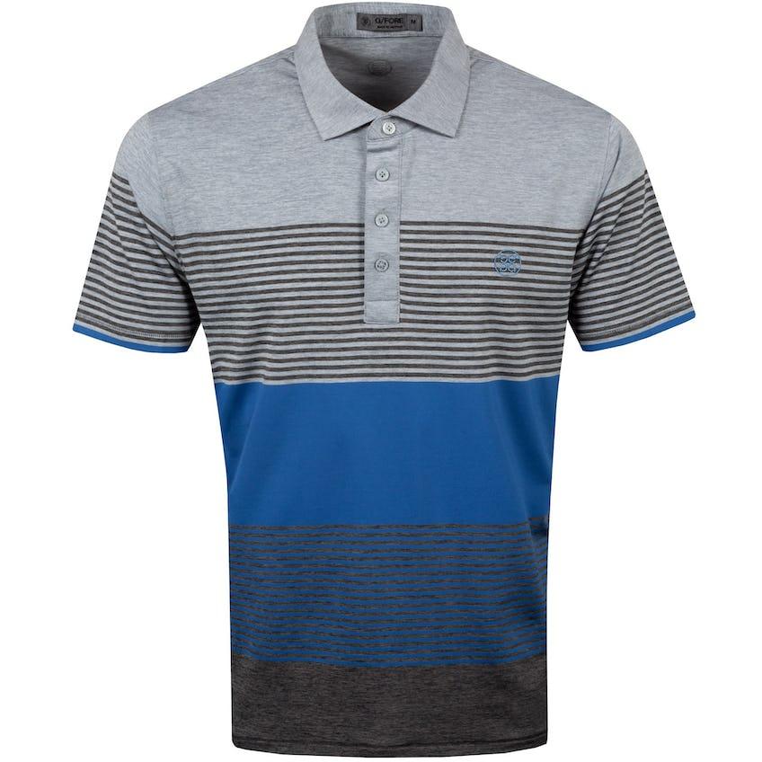 Transition Stripe Polo Shirt Light Heather Grey - SS21 0