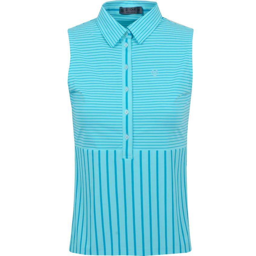 Womens Stripe Mix Sleeveless Polo Shirt Sardinia/Seychelle - SS21 0