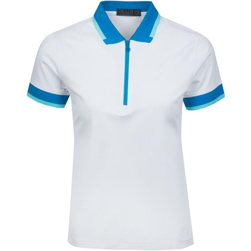 Womens Contrast Zip Polo Shirt Snow - SS21 0
