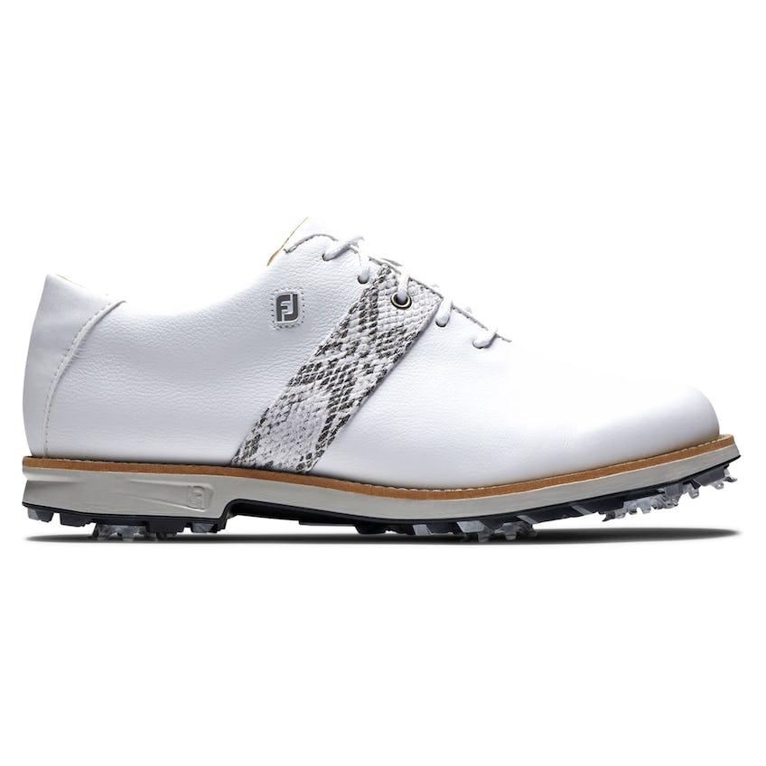 Womens DryJoys Premiere Golf Shoes White/Multi Croc Print 0