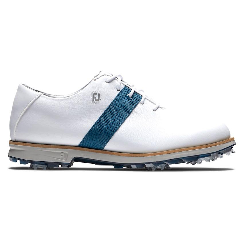 Womens DryJoys Premiere Golf Shoes White/Blue/Grey 0